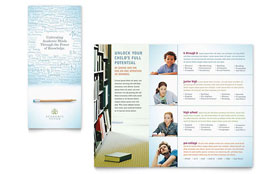 Academic Tutor & School - Tri Fold Brochure