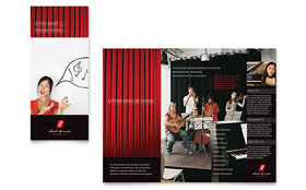 Music School - Microsoft Word Brochure Template