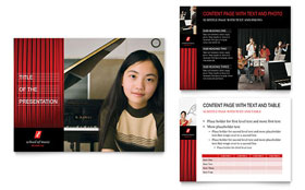 Music School - PowerPoint Presentation Template Design Sample