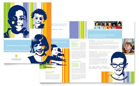 Learning Center & Elementary School - Desktop Publishing Brochure Template