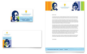 Learning Center & Elementary School - Business Card & Letterhead