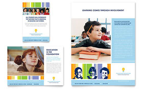 Learning Center & Elementary School - Flyer & Ad Template