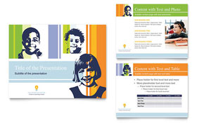 Learning Center & Elementary School - PowerPoint Presentation Template