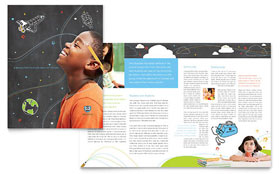 Education Foundation & School - Adobe Illustrator Brochure Template