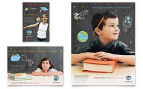 Education Foundation & School - Print Ad Template