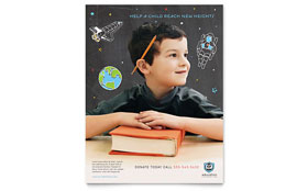 Education Foundation & School - Leaflet Sample Template