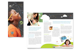 Education Foundation & School - Microsoft Word Tri Fold Brochure Template