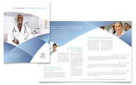 Nursing School Hospital - Brochure Template Design Sample