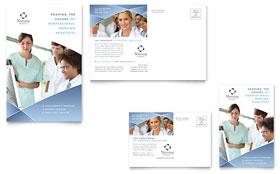 Nursing School Hospital - Postcard Sample Template