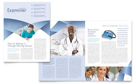 Nursing School Hospital - Newsletter Template Design Sample