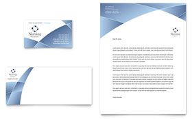 Nursing School Hospital - Business Card & Letterhead Template Design Sample