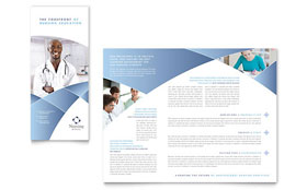 Nursing School Hospital - Tri Fold Brochure Template Design Sample