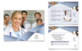 Nursing School Hospital - PowerPoint Presentation Template Design Sample
