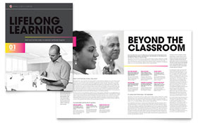 Adult Education & Business School - Microsoft Publisher Brochure Template