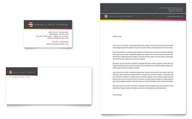 Adult Education & Business School - Business Card & Letterhead Template