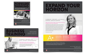 Adult Education & Business School - Flyer & Ad Template