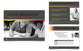 Adult Education & Business School - Microsoft PowerPoint Template