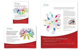 Language Learning - Flyer & Ad Template Design Sample