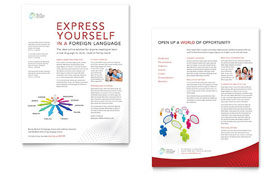 Language Learning - Datasheet Template Design Sample