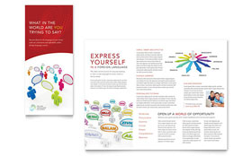 Language Learning - Tri Fold Brochure