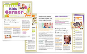 Kindergarten - Newsletter Template Design Sample