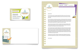 Kindergarten - Business Card & Letterhead Template