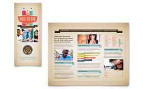 Tutoring School - Brochure - Graphic Design Template Design Sample