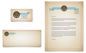 Tutoring School - Business Card & Letterhead Template