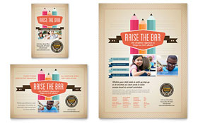 Tutoring School - Print Ad Template Design Sample