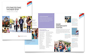 Community College - Microsoft Publisher Brochure Template