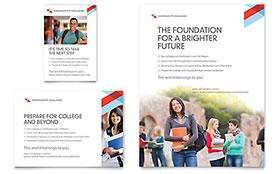 Community College - Print Ad Sample Template