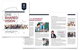 High School - Brochure Template