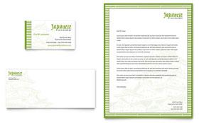 Japanese Restaurant - Business Card & Letterhead Template