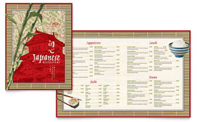 Japanese Restaurant - Adobe InDesign Menu