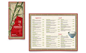 Japanese Restaurant - Take-out Brochure Template