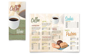 Coffee Shop - Take-out Brochure Template Design Sample