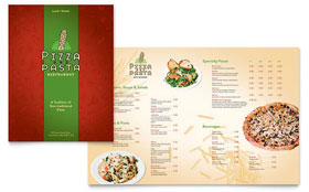 Italian Pasta Restaurant - Apple iWork Pages Menu Template