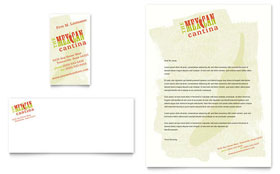 Mexican Restaurant - Business Card & Letterhead Template Design Sample