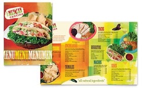 Mexican Restaurant - Menu Template Design Sample