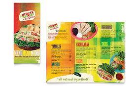 Mexican Restaurant - Take-out Brochure Template Design Sample