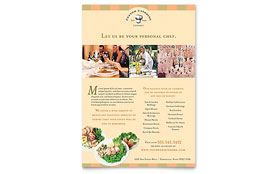 Catering Company - Flyer Template Design Sample