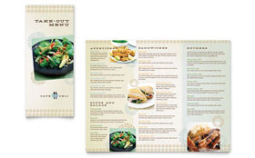 Cafe Deli - Take-out Brochure Template Design Sample