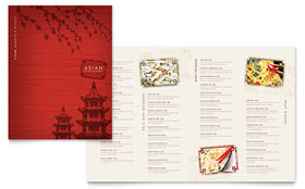 Asian Restaurant - Menu Template Design Sample