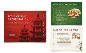 Asian Restaurant - PowerPoint Presentation Template Design Sample