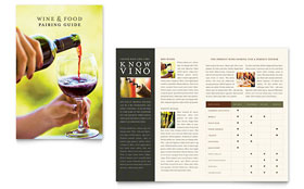 Vineyard & Winery - Microsoft Word Brochure Template