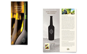 Vineyard & Winery - Datasheet Template Design Sample
