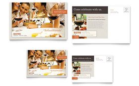 Bistro & Bar - Postcard Template Design Sample