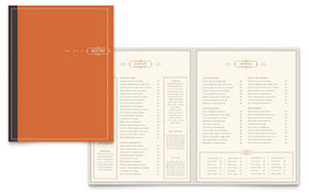 Bistro & Bar - Menu Template Design Sample