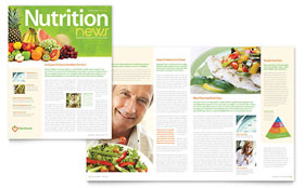 Nutritionist & Dietitian - Newsletter Template Design Sample