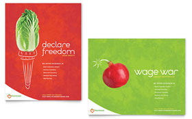 Nutritionist & Dietitian - Poster Template Design Sample